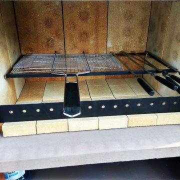 Мега-печь, топка 70 см (шамот, рамка, перегородка в комплекте)