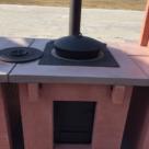 Печь под казан с чугунной варочной панелью